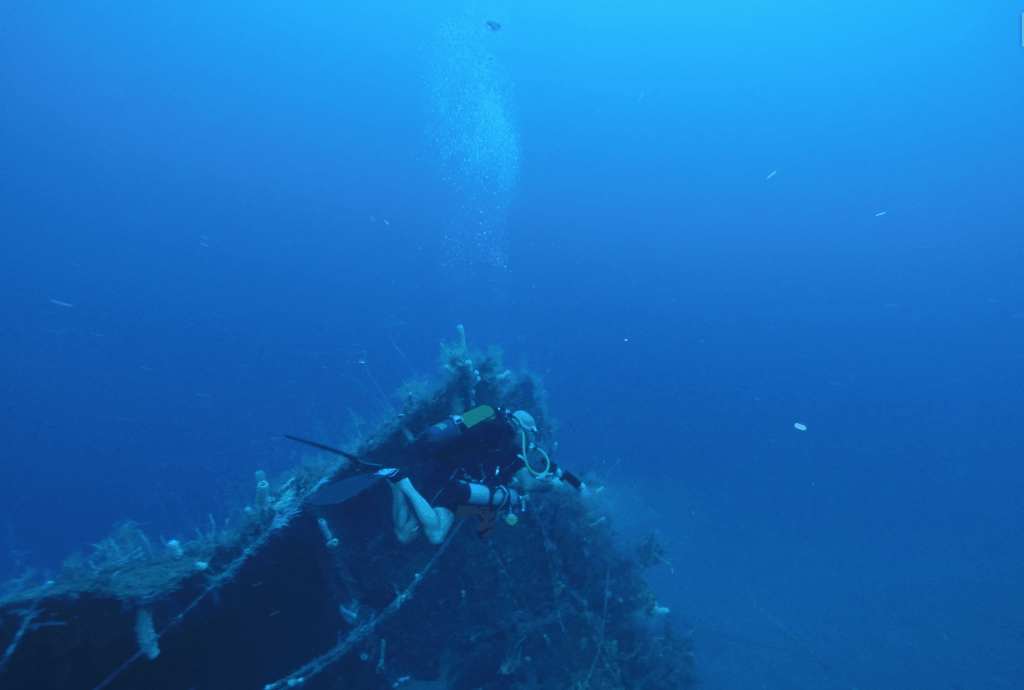 Epave du Tamaya en Martinique lors de la formation trimix Aquadomia
