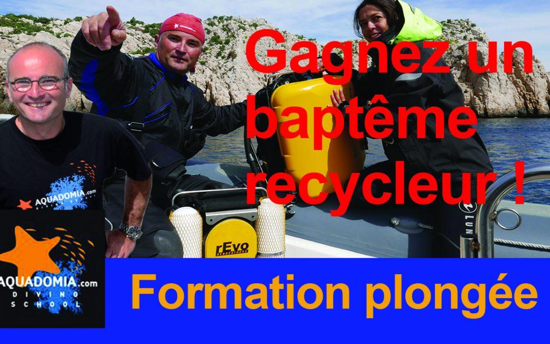 Plongée Marseille : formation loisirs, recycleur CCR rEvo ou Inspi, guide ou moniteur cet été ? Un baptême recycleur à gagner !