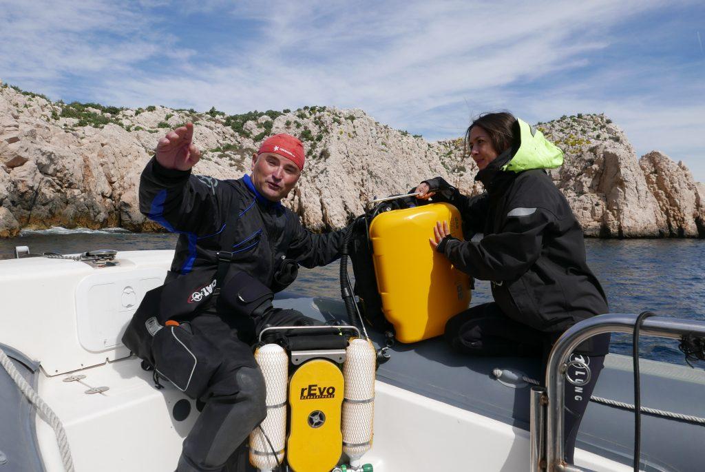 recycleur car revo plongée Marseille : formation