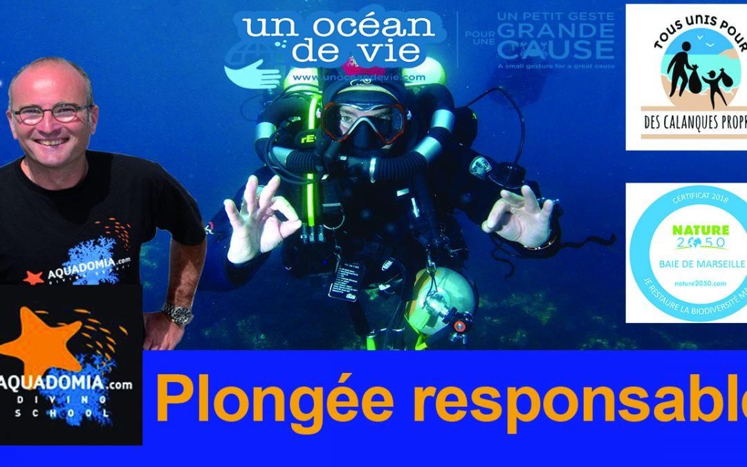 Plongée responsable : Aquadomia participe aux actions et projets de protection et restauration Nature 2050